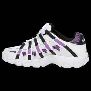 New K-Swiss ST429 Low White purple black 93181-152